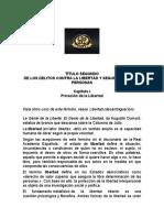 TÍTULO SEGUNDO DELITOS CONTRA LA LIBERTAD PENEAL.docx