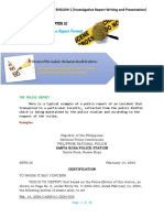 CHAPTER 9 - POLICE REPORT FORMAT