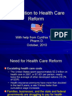 Introduction to Health Care Reform Revised