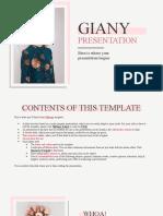 Giany Presentation by Slidesgo