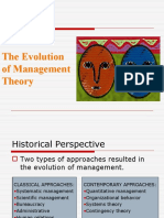 The Evolution of Management Theory Organizational Culture