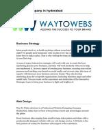 Waytowebs.com-web Design Company in Hyderabad