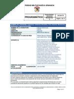 CONTENIDO PROGRAMATICO CALCULO DIFERENCIAL 2020-2