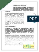 EQUILIBRIO DE MERCADO
