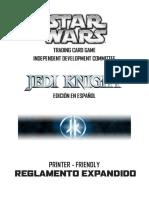 2019 Star Wars Trading Card Game Rulebook - ESPAÑOL