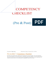 Self-competency Checklist
