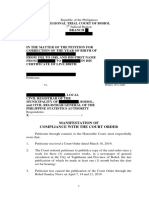 SAMPLE Manifestation of Compliance of Publication