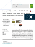 Biocontrol potential of endophytic fungi in medicinal plants from Wuhan Botanical Garden in China