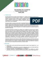 BASES PREMIO NACIONAL DE LA JUVENTUD 2020
