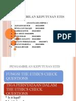 PPT Pengambilan Keputusan Etis Etika Bisnis