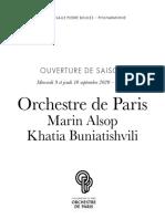 Orchestre de paris / Amrin Alsop