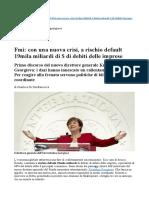Fmi (Georgieva)… con una nuova crisi, a rischio default 19mila miliardi di $ di debiti delle imprese.docx