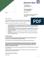 Deutche Bank Comment Letter on CESR's Consutation Paper on Transaction Reporting for Derivative Instruments