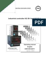 Ks50 pma manual controlador temperatura
