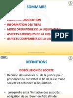 DISSOLUTION-LIQUIDATION DE SOCIETE