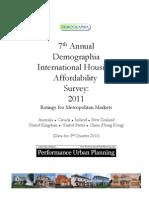 Demographia - Performance Urban Planning