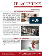 Notizie Dal Comune di Borgomanero del 25-09-2020