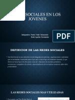 REDES SOCIALES EN LOS    JOVENES.pptx