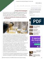La explicación de las burbujas del champagne - De Vinos y Vides