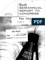 Ninth Semiannual Report to Congress 1 Jan. - 30 Jun. 1963