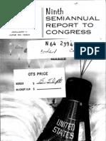 Ninth Semiannual Report to Congress 1 Jan. - 30 Jun. 1963
