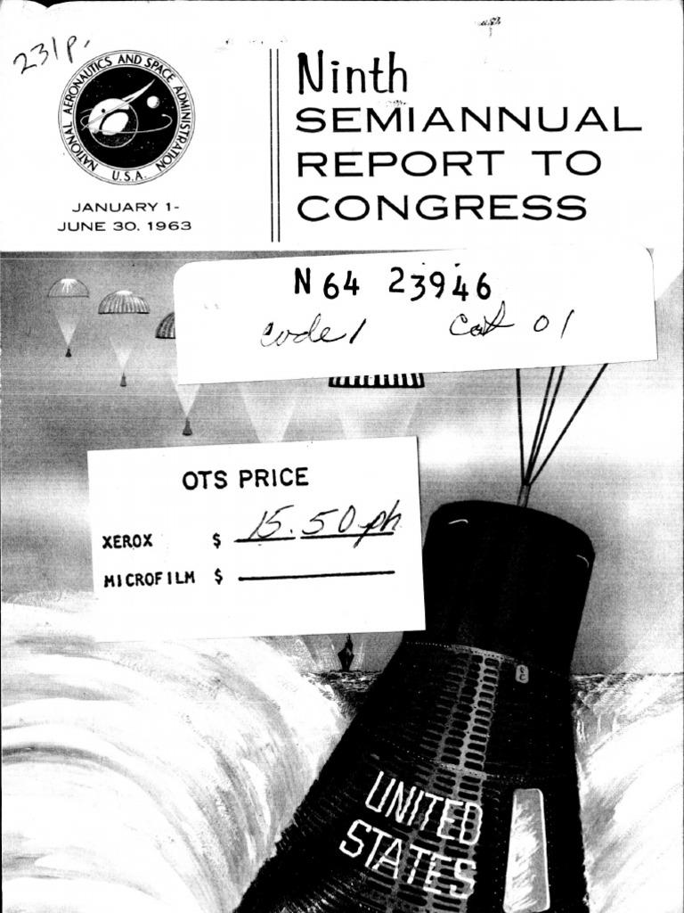 Ninth Semiannual Report to Congress 1 Jan. - 30 Jun. 1963 | Project Mercury  | Saturn V
