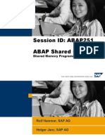 ABAP Shared Objects - Shared Memory Programming Made Easy
