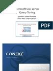 Microsoft SQL Server Query Tuning