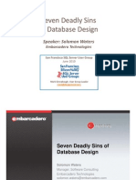 Microsoft SQL Server Seven Deadly Sins of Database Design