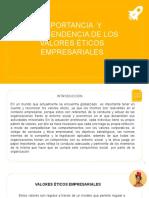 Presentación valores éticos empresariales