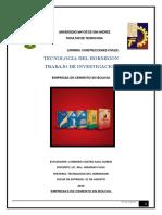 INDUSTRIAS DE CEMENTO EN BOLIVIA