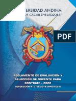 REGLAMENTO CONTRATO DOCENTE 2020