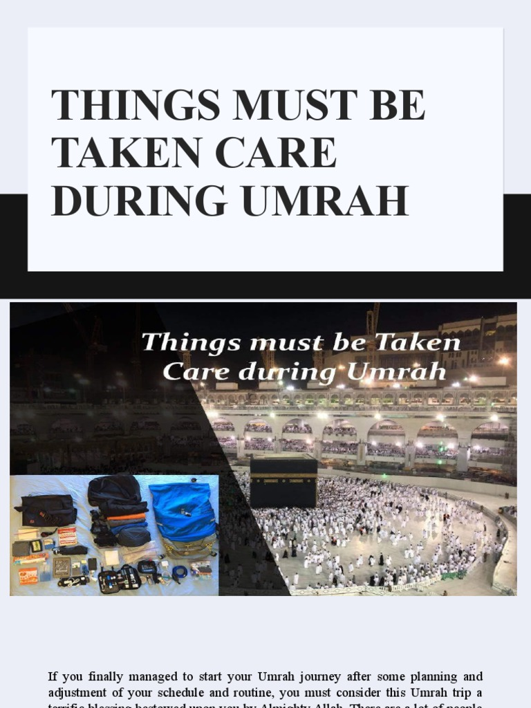 Things Must Be Taken Care During Umrah | Religious Behaviour And Experience | Religious Belief And Doctrine