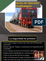 CURSO  DE OPERACIÓN Y MEDIDAS DE SEGURIDAD DE REMOLCADOR FERROVIARIO