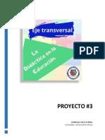 proyecto 3.  La lúdica en la educación