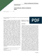 The buzz on caffeine in invertebrates effects on behavior and molecular mechanisms