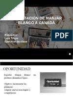 PRESENTACIÓN DE PROYECTOS A INVERSORES MANJAR BLANCO