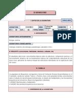 CARTA DESCRIPTIVA DE BIOQUÍMICA (II-S)