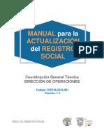 Manual de Actualización del Registro Social