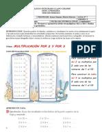 GUIA DE MATEMATICAS 2 TABLAS DEL 2 Y DEL 3