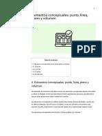Elementos conceptuales_ punto, línea, plano y volumen - Eniun