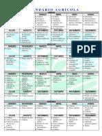 Calendário Agrícola 2018