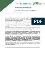 BASES y FORMULARIO Concurso Educacion Solidaria 2020