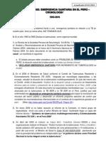 tbc emergencia sanitaria en el peru, cronologia