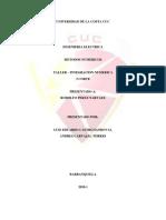TALLER DE METODOS NUMERICOS - 3 corte