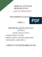 TAREA 1 TRANSFERENCIA DE MASA