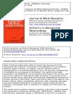 Authority in Educational Relationships Jan Steutel & Ben Spiecker