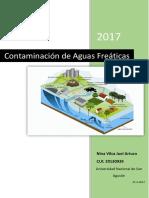 COntaminacion de aguas freaticas