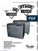 Fender Stage 1000Manual