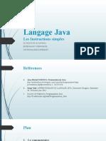 03 Les Instructions simples du Langage Java